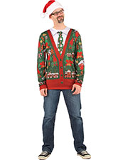 Halloween Costumes FR115779LG Men Ugly Christmas Cardigan Lg at GotApparel