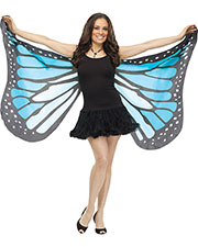 Halloween Costumes FW90563BU  WINGS SOFT BUTTERFLY ADLT BLUE at GotApparel