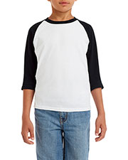 Gildan G570b  Youth 5.3 Oz. 3/4-Raglan Sleeve T-Shirt at GotApparel