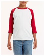 Gildan G570B Boys 5.3 oz. 3/4-Raglan Sleeve T-Shirt at GotApparel