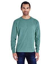 Hanes GDH200 Men Garment-Dyed Long-Sleeve T-Shirt at GotApparel