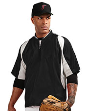 TRI-MOUNTAIN PERFORMANCE J2108 Men D.H. Short Sleeve 1/4 Zip Baseball Warm-Up Shirt at GotApparel