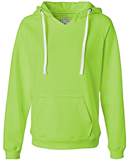 J America J8836 Women V Neck Hood Sweatshirt  at GotApparel