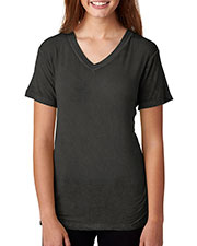 J America J8132 Women Oasis Wash V-Neck Tee at GotApparel