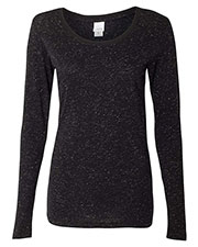 J America Ja8236   ' Glitter Long-Sleeve T-Shirt at GotApparel