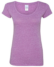 J America JA8260 Women Twisted Slub Jersey Scoopneck T-Shirt at GotApparel