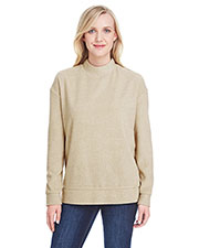 J America Ja8428   ' Weekend French Terry Mock Neck Crew at GotApparel