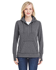J America JA8431 Women Omega Stretch Snap-Placket Hood at GotApparel
