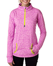 J America J8617 Women Cosmic 1/4-Zip Fleece at GotApparel