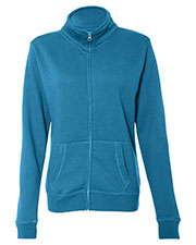 J America JA8635 Women Sueded Fleece Full Zip Jacket at GotApparel