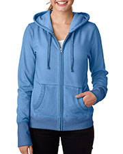 J America J8665 Women Oasis Wash Full-Zip Hooded Fleece at GotApparel