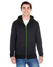 J America JA8668 Men Glow Full-Zip Hood at GotApparel