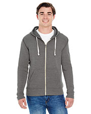 J America JA8872 Men Triblend Full-Zip Fleece Hood at GotApparel