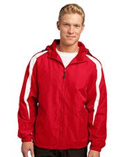 Sport-Tek JST81 Men Fleece Lined Colorblock Jacket at GotApparel