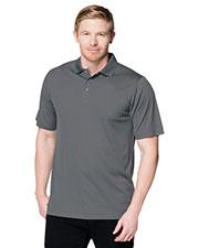 Tri-Mountain K022 Men Vital Snap Short-Sleeve Polo Shirt at GotApparel