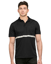 Tri-Mountain K035 Men Pocketed Polo with Reflective Tape at GotApparel