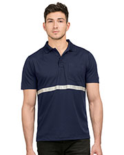 Tri-Mountain K035  Pocketed Polo With Reflective Tape at GotApparel