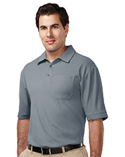 TRI-MOUNTAIN PERFORMANCE K107P Men Endurance Pocket Short Sleeve Golf Shirt at GotApparel