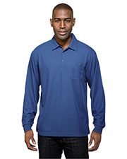 TRI-MOUNTAIN PERFORMANCE K107PLS Men Endurance Pocket Long Sleeve Knit Golf Shirt at GotApparel