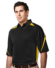 TRI-MOUNTAIN PERFORMANCE K119 Men Lightning Birdeye Short Sleeve Polo at GotApparel