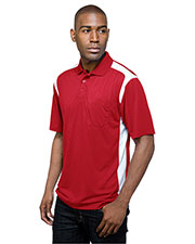 TM Performance K145P Men's Blitz Pocket Short-Sleeve Golf Shirt at GotApparel
