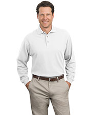Port Authority K320 Men Long Sleeve Pique Knit Polo at GotApparel