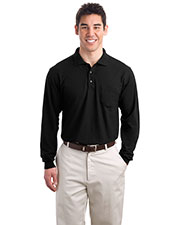 Port Authority K500LSP Men Long-Sleeve Silk Touch Polo With Pocket at GotApparel