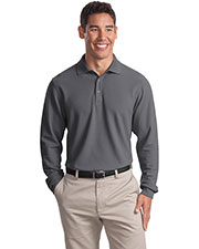 Port Authority K800LS Men's Long-Sleeve EZCotton™ Pique Polo at GotApparel