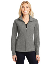 Port Authority L235 Women Heather Microfleece Full-Zip Jacket at GotApparel