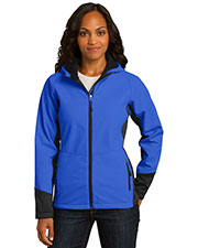 Port Authority L319 Women Vertical Hooded Soft Shell Jacket at GotApparel