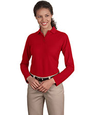 Port Authority L500LS Women Long Sleeve Silk Touch™ Polo at GotApparel