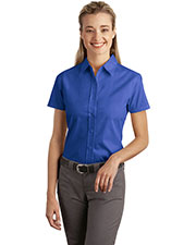 Port Authority L507 Women Short Sleeve Easy Care, Soil Resistant Shirt at GotApparel