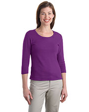 Port Authority L517 Women Modern Stretch Cotton 3/4-Sleeve Scoop Neck Shirt at GotApparel