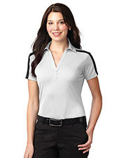 Port Authority L547 Women Silk Touch™ Performance Colorblock Stripe Polo at GotApparel