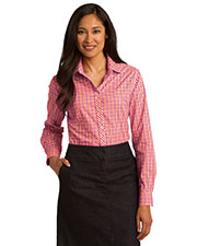Port Authority L654 Women Long-Sleeve Gingham Easy Care Shirt at GotApparel