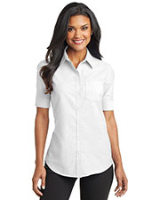 Port Authority L659 Women Short-Sleeve Superpro Oxford Shirt at GotApparel