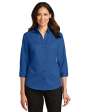 Port Authority L665 Women 3/4-Sleeve Superpro Twill Shirt at GotApparel