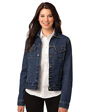 Port Authority L7620 Women Denim Jacket at GotApparel