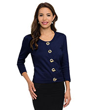 Tri-Mountain Lb933  Wo's 82% Cotton/18% Nylon 3/4-Sleeve Crop Sweater Cardigan. at GotApparel