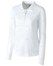 Cutter & Buck LCK08689  L/S Bree Printed Polo at GotApparel