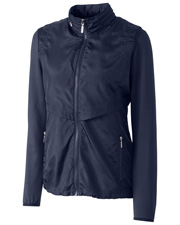 Cutter & Buck LCO09993 Women Long-Sleeve Ava Hybrid Full-Zip at GotApparel