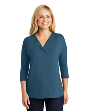 Port Authority LK5433 Women 3/4-Sleeve Soft Split Neck Top at GotApparel