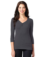 Port Authority LM1007 Women Concept Stretch 3/4-Sleeve Scoop Henley at GotApparel