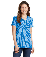 Port & Company LPC147V  ® Ladies Tie-Dye V-Neck Tee. at GotApparel