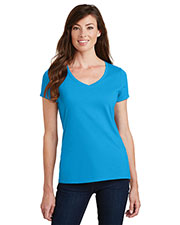 Port & Company LPC450V Women Fan Favorite V-Neck Tee at GotApparel