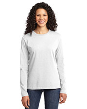 Port & Company LPC54LS Women Long-Sleeve 100% Cotton T-Shirt at GotApparel