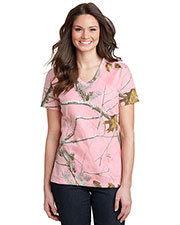 Russell Outdoor LRO54V Women Outdoor's Realtree 100% Cotton V-Neck Tee at GotApparel
