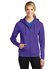 Sport-Tek® LST238 Women Sportwick Fleece Full-Zip Hooded Jacket at GotApparel