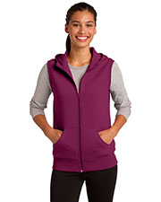 Sport-Tek LST268 Women Hooded Fleece Vest at GotApparel