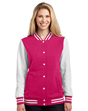 Sport-Tek® LST270 Women Fleece Letterman Jacket at GotApparel
